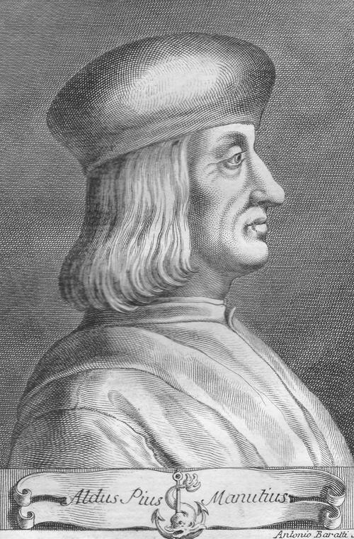 Manuzio, Aldo.  アルド・マヌーツィオ